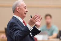 SMU Cox Dean Al Niemi teaches an MBA class Tuesday, Sept. 27, 2016 at the The James M. Collins Executive Education Center on the SMU campus.