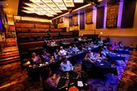About 30 people (of a seating capacity of 118) applaud singer Shawn Mullins as he takes the stage in concert at the Texan Theater in downtown Greenville, Texas, Saturday, March 25, 2017. For $135, patrons were served a four-course meal and a 2 hour concert. (Tom Fox/The Dallas Morning News)