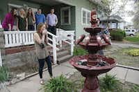 "<p><span style=""font-size: 1em; background-color: transparent;"">Claire Daniels, senior at Kansas State University, reacts after seeing her very own Dr Pepper fountain on Thursday, April 13, 2017, in Manhattan, Kan. Dr Pepper surprised Daniels with the fountain after seeing a tweet from her.</span></p>(Colin E. Braley/AP images for Dr Pepper)"
