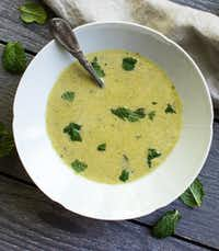 Asparagus tarragon soup, by A Pleasant Little Kitchen.((Rebecca White))