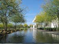 Reflecting pools offer a nice view outside the Sunnylands Center and Gardens in Rancho Mirage, Calif.  (Office of James Burnett.)