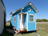 "<p>Tiny homes require a lifestyle change. ""It's an intentional approach to living,"" says B.A. Norrgard of Dallas. </p>(Jae S. Lee/Staff Photographer)"