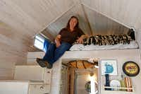 Demere O'Dell is bringing her tiny house to Earth Day Texas at Fair Park April 21-23. (Jae S. Lee/Staff Photographer)