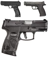 Stock images of the firearm allegedly found in Steven Boehle's apartment.