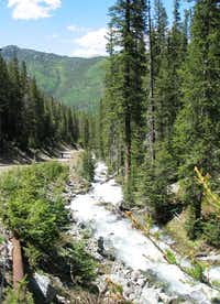 Cascades are familiar sights when hiking on mountain trails.(Beverly Burmeier)