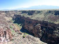 Rio Grande Gorge in New Mexico provides a great setting for hiking, biking, horseback riding, or whitewater rafting.(Beverly Burmeier)
