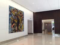 St. Paul Place's lobby got new furnishings and art. (Steve Brown/DMN Staff)
