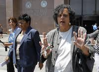 Kathy Nealy (left), a former Dallas lobbyist, is accused of paying almost $1 million in bribes to John Wiley Price over a decade for his votes and other approvals to help her clients. (David Woo/The Dallas Morning News)