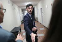 Democratic candidate Jon Ossoff speaks with the media at a campaign office as he runs for Georgia's 6th Congressional District on April 18, 2017 in Marietta, Georgia. Ossoff is running in a special election to replace Tom Price, who is now the Secretary of Health and Human Services. Today's election will fill a congressional seat that has been held by a Republican since the 1970s.(Joe Raedle/Getty Images)