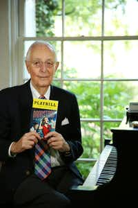 "Roger Horchow, a Tony Award-Winning producer, has produced Broadway shows that include ""Annie,"" ""Gypsy,"" ""Curtains,"" ""Kiss Me, Kate,"" and Crazy for You."" His latest production is ""Bandstand: The New American Musical."" He was photograph at his Dallas home Tuesday April 18, 2017. Composer George Gershwin played on Horchow's piano. (Andy Jacobsohn/The Dallas Morning News)(Staff Photographer)"