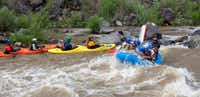 Kayaking and rafting the whitewater in the Rio Grande Gorge.(New Mexico Tourism Department)