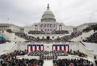 President Donald Trump gives his inaugural address on Jan. 20, 2017 in Washington, D.C. (Patrick Semansky/AP)