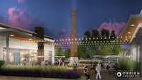 The Lake Highlands Town Center shopping center will include several outdoor plaza areas.(Cypress Real Estate)