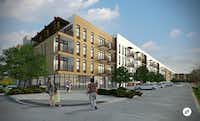 The new apartment block at Lake Highlands Town Center will include 257 units.(Cypress Real Estate)