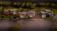 Rendering of the Shacks, a new restaurant park and dog park opening in The Colony.((O'Brien Architects))