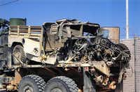 Casey Owens was in this Humvee when it hit a land mine in Iraq in 2004, causing him numerous injuries including the loss of his legs.
