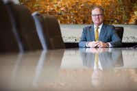 Jim Hinton, the new CEO of Baylor Scott and White Health System, poses for a portrait in a conference room of their corporate offices on Tuesday, April 11, 2017 in Dallas. (Ashley Landis/The Dallas Morning News)(Staff Photographer)