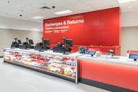 New guest services area for online order pickups and other services. (Tim Mueller/AP Images for Target)(Tim Mueller/AP Images for Target)