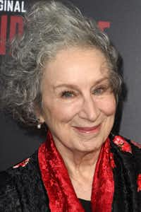 "Author Margaret Atwood attends the Los Angeles premiere of Hulus ""The Handmaids Tale,"" April 25, 2017 at the ArcLight Dome in Hollywood, California.(AFP/Getty Images)"