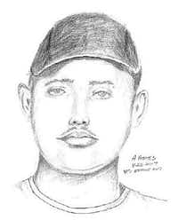 Police sketch of the attacker (Dallas Police Department)