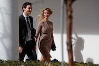 Ivanka Trump and husband, Jared Kushner, senior adviser to the president.(Evan Vucci/AP)