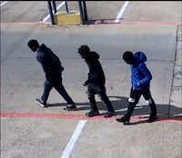 Police are looking for these three men. (Dallas Police Department)