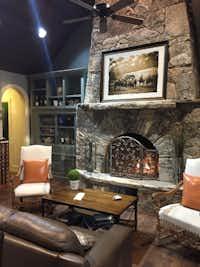 Lounge seating in the Tasting Hall at Fall Creek Vineyard at Driftwood.(Tina Danze)