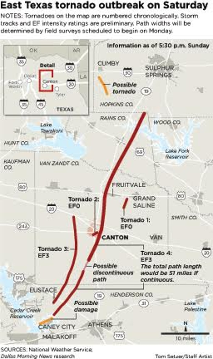Canton TX On Map of Texas Images on