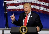 President Donald Trump speaks was a frequent target of comedian Bill Maher. (File Photo/The Associated Press)