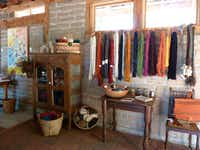 Studio 17 in the Pojoaque River Valley is where Mary L. Grow does handweaving. She dyes many of her yarns with plants grown on site. It's part of the New Mexico Fiber Crawl in May. (EVFAC)
