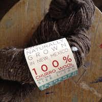New Mexico's churro wool is typically thick and chunky, in earthy colors like browns and tans. This skein is from Espanola Valley Fiber Arts Center, organizer of the New Mexico Fiber Crawl in May.(Special Contributor)