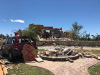 Amanda and Clyde Scott's home on 80 acres in Van Zandt County was destroyed after tornadoes tore through East Texas on Saturday. (Amanda Scott)