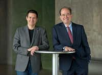 (from l-r) Kevin Moriarty, artistic director, and Jeff Woodward, managing director of Dallas Theater Center.