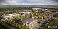 The new Lake Highlands Town Center located on the corner of Skillman and Walnut Hill is anchored by Sprouts. Other tenants haven't opened yet. ((Cypress Real Estate))