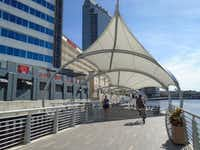 Le Meridien Tampa teamed up with New York-based Priority Bicycles for a custom fleet that can be used to glide down Tampa's beautiful new Riverwalk.(Robin Soslow)