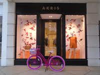 The Brazilian Court in Palm Beach, Fla., loans guests custom Lilly Pulitzer bicycles to cruise ritzy Worth Avenue and the Lake Trail.(Robin Soslow)