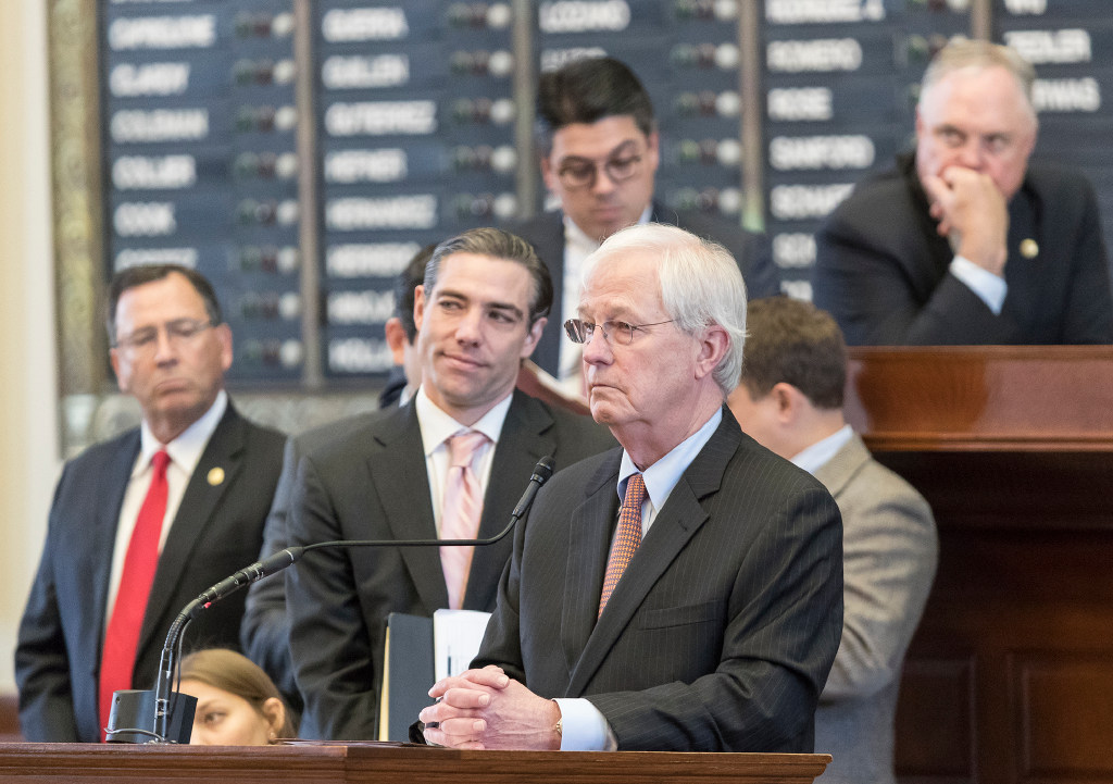 Rep. Charlie Geren R Fort Worth spoke about Senate Bill 4 on the House floor last Wednesday.&nbsp