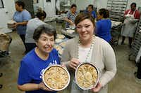 Rochelle Trainer (left) and her granddaughter Amy Collins are co-owners of RoRo's Baking Company in Dallas. (David Woo/Staff Photographer)