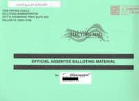This is a mail-in ballot envelope received by a Grand Prairie voter in recent weeks that the resident did not request. (Courtesy)