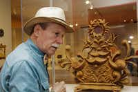 Contemporary tramp art practitioner Freeland Tanner of Napa, Calif., is the star of the Santa Fe exhibit. (Paul Ross)
