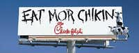 A billboard for Chick-Fil-A by The Richards Group.(The Richards Group)