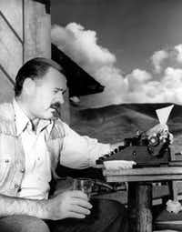 American novelist and short-story writer Ernest Hemingway at his typewriter as he works at Sun Valley Lodge, Idaho, in 1939.(File Photo/The Associated Press)