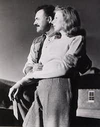 Ernest Hemingway poses with  Martha Gellhorn, writer and war correspondent, at Sun Valley Lodge in Idaho in November 1940, shortly before leaving for Cheyenne, Wyo., where they married on Nov. 21.  (File Photo/The Associated Press)