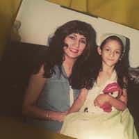 Reporter Cassandra Jaramillo as a child with her mother, Adriana Jaramillo.(Cassandra Jaramillo )