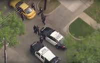 Police approached the empty car with their guns drawn to ensure it was empty.(NBC5)