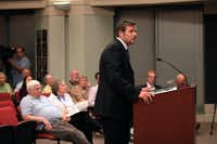 Kris Kobach spoke at a Farmers Branch City Council meeting in August 2013.(File Photo/Ben Torres)