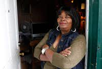 Pat Stephens, 67, is among dozens of potential victims of voter fraud this election cycle in West Dallas and Grand Prairie. A suspicious man came to her door claiming to work for Dallas County and asking for her mail-in ballot. She instead demanded to see his driver's license and took a photo of it.(David Woo/Staff Photographer)