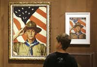 A Boy Scout-themed Norman Rockwell exhibition was on display at the Church History Museum in Salt Lake City. (File Photo/The Associated Press)