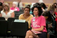 Kristy Anderson waits to speak in support of Planned Parenthood during a Texas Women's Health Advisory Committee meeting Monday at the Capitol. (Ilana Panich-Linsman/The New York Times)