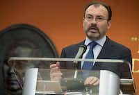 Mexican Foreign Secretary Luis Videgaray speaks during a press conference at the Mexican Embassy in Washington, DC, April 6, 2017. ( Saul Loeb/AFP/Getty Images)